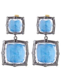Larkspur & Hawk | Blue Silver Quartz Bella Double Drop Earrings | Lyst