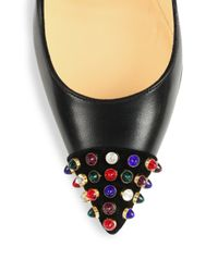 Christian Louboutin - Multicolor Cabo Studded Point-Toe Pumps - Lyst