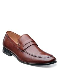 Florsheim | Brown Burbank Leather Penny Loafers for Men | Lyst