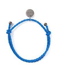 Bottega Veneta - Blue Braided Bracelet - Lyst