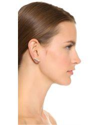 Michael Kors | Metallic City Barrel Stud Earrings - Gold/clear | Lyst