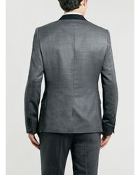 TOPMAN - Blue Noose And Monkey Grey Suit Jacket* for Men - Lyst