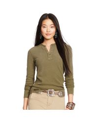 Polo Ralph Lauren | Green Long-sleeve Henley Shirt | Lyst