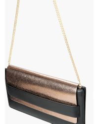 Mango - Metallic Lapel Clutch - Lyst
