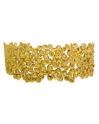 Natasha Collis | Metallic 18kt Dripped Gold Diamond Cuff | Lyst