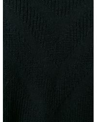 Y-3 - Black Ribbed V Neck Cardigan - Lyst