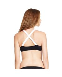 Polo Ralph Lauren - Black Crisscross-back Bikini Top - Lyst