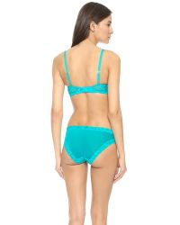 Natori - Blue Feathers Contour Plunge Bra - Freshwater - Lyst
