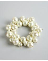 Kenneth Jay Lane | White Ivory Pearl Cluster Bracelet | Lyst