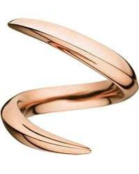 Shaun Leane | Metallic Aerial 18ct Rose-gold Crossover Ring | Lyst