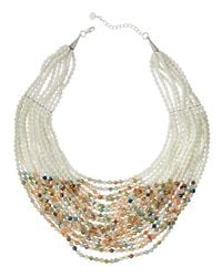 Nakamol | White Layered Bead Statement Necklace | Lyst