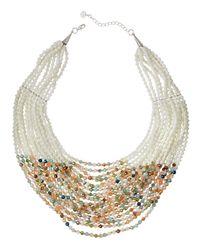 Nakamol - White Layered Bead Statement Necklace - Lyst