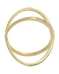 Eva Fehren - Metallic Women's X Ring - Lyst