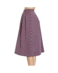 Pinko | Purple Skirt | Lyst