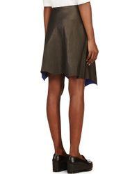 3.1 Phillip Lim - Black Leather Raw Edge Skirt - Lyst