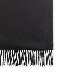 Johnstons - Black 100% Cashmere Solid Scarf for Men - Lyst