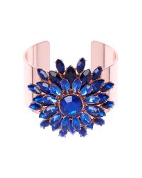 Ted Baker | Blue Gavi Jewel Flower Cuff | Lyst
