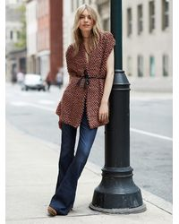 Free People | Brown Loop Cardigan | Lyst