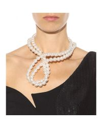 Stella McCartney | White Faux Pearl Necklace | Lyst