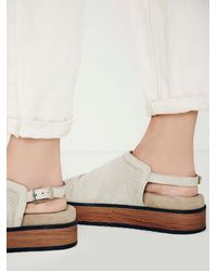 Free People | Brown Naya Womens Hayden Flatform Sandal | Lyst