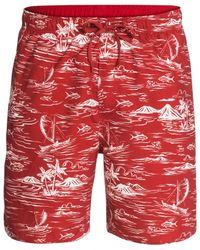 Quiksilver | Red Waterman Collection Seanic Swim Trunks for Men | Lyst