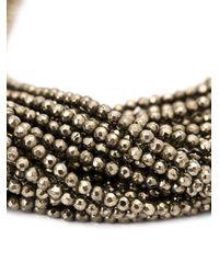 Brunello Cucinelli | Metallic Beaded Choker Necklace | Lyst
