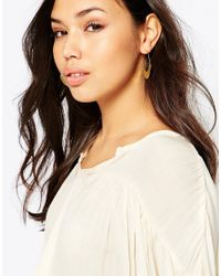 M.a.d.e - Pink Gishanda Hoop Earrings - Lyst
