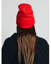 Free People - Red Compass Cuff Beanie - Lyst