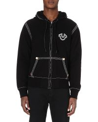 True Religion - Black Qt Cotton Hoody for Men - Lyst