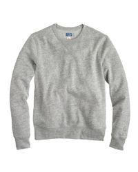 J.Crew - Gray Preorder Slim Lightweight Crewneck Sweatshirt for Men - Lyst