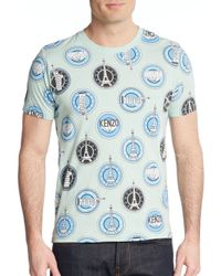KENZO - Blue Graphic Eiffel Tower Tee for Men - Lyst