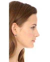 Aurelie Bidermann - Metallic Rosebud Earrings - Silver - Lyst