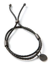 Bottega Veneta | Black Intrecciato Bracelet | Lyst