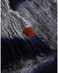 Esprit - Black Linen Stripe Scarf for Men - Lyst