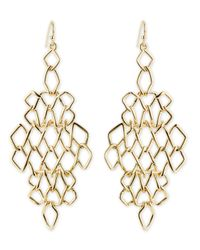 Alexis Bittar   Metallic Golden Barbed Articulating Diamond-Shaped Drop Earrings   Lyst