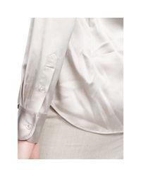 Ralph Lauren Black Label | Gray Rachel Stretch-silk Shirt | Lyst