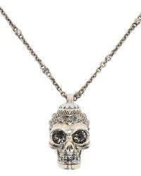 Alexander McQueen | Metallic Silver Victorian Skull Pendant | Lyst