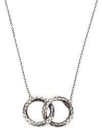 Bottega Veneta | Metallic Woven Link Necklace | Lyst