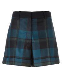 Sonia Rykiel - Blue Checked Shorts - Lyst