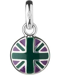 Links of London | Metallic Wimbledon Round Union Jack Sterling-silver Charm | Lyst