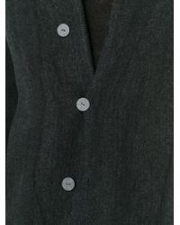 Label Under Construction - Gray High Neck Buttoned Coat for Men - Lyst