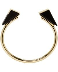 Isabel Marant - Metallic Gold And Black From The Block Bracelet - Lyst