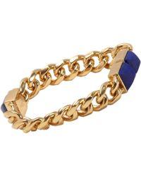 Fallon | Blue Lapis Signature Pyramid Bracelet | Lyst