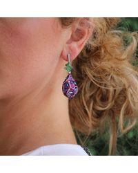 Arunashi | Blue Sapphire Egg Drop Earrings | Lyst