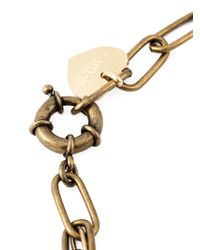 Lanvin - Green Crystal Embellished Heart Pendant Necklace - Lyst