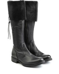 Fiorentini + Baker - Black Fold-over Leather Boots - Lyst