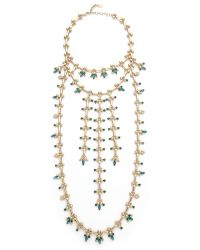 DANNIJO | Green Whitley Necklace - Indicolite/emerald/gold | Lyst