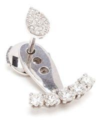 Yvonne Léon - Metallic Diamond Lobe Earring - Lyst
