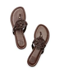 Tory Burch | Brown Miller Sandal | Lyst
