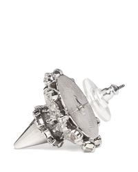 Erickson Beamon | Metallic 'clarity' Spiked Stud Crystal Earrings | Lyst